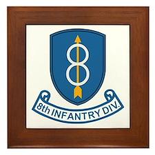 8th Infantry Division<BR> Framed Tile 1