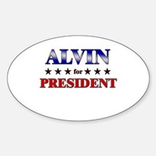 ALVIN for president Oval Decal