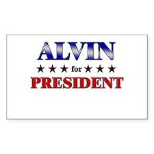 ALVIN for president Rectangle Decal