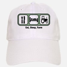 Eat, Sleep, Farmer Baseball Baseball Cap