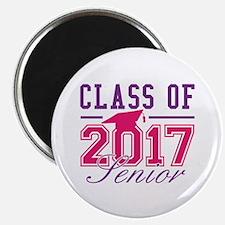 """Class Of 2017 Senior 2.25"""" Magnet (10 pack)"""