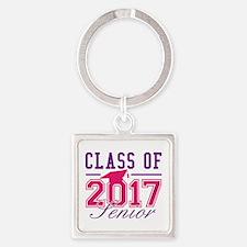 Class Of 2017 Senior Square Keychain