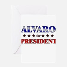 ALVARO for president Greeting Card