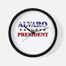 ALVARO for president Wall Clock