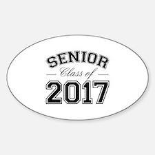 Class Of 2017 Senior Sticker (Oval)