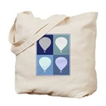 Hot Air Balloon (blue boxes) Tote Bag