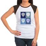 Hot Air Balloon (blue boxes) Women's Cap Sleeve T-