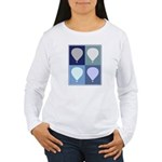 Hot Air Balloon (blue boxes) Women's Long Sleeve T