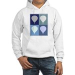 Hot Air Balloon (blue boxes) Hooded Sweatshirt