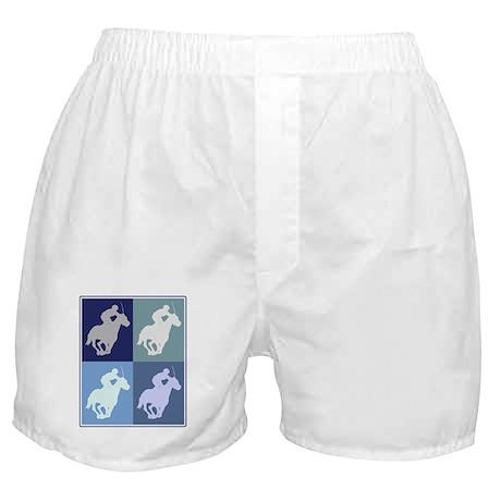 Horse Racing (blue boxes) Boxer Shorts