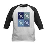 Handyman (blue boxes) Kids Baseball Jersey
