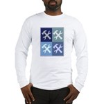 Handyman (blue boxes) Long Sleeve T-Shirt