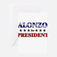 ALONZO for president Greeting Card
