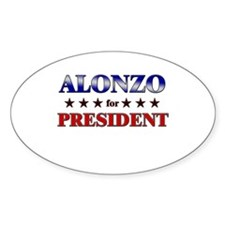 ALONZO for president Oval Decal