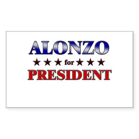 ALONZO for president Rectangle Sticker