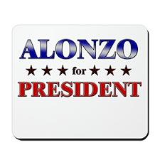 ALONZO for president Mousepad