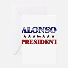 ALONSO for president Greeting Card