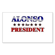 ALONSO for president Rectangle Decal
