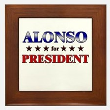 ALONSO for president Framed Tile