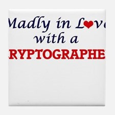 Madly in love with a Cryptographer Tile Coaster