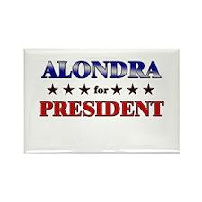 ALONDRA for president Rectangle Magnet