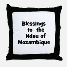 Blessings  to  the  Ndau of M Throw Pillow