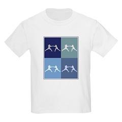 Fencing (blue boxes) T-Shirt
