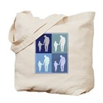 Fatherhood (blue boxes) Tote Bag