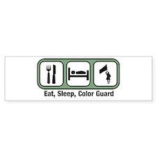 Eat, Sleep, Color Guard Bumper Bumper Bumper Sticker