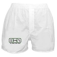 Eat, Sleep, Color Guard Boxer Shorts