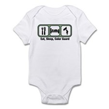 Eat, Sleep, Color Guard Infant Bodysuit