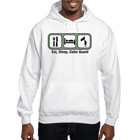 Eat, Sleep, Color Guard Hooded Sweatshirt