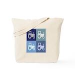 Farmer (blue boxes) Tote Bag