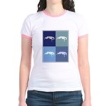 Dog Racing (blue boxes) Jr. Ringer T-Shirt