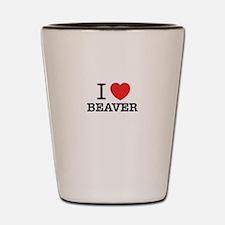 I Love BEAVER Shot Glass