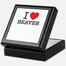 I Love BEAVER Keepsake Box