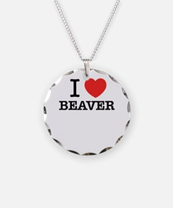 I Love BEAVER Necklace