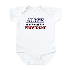 ALIZE for president Infant Bodysuit
