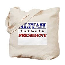 ALIYAH for president Tote Bag
