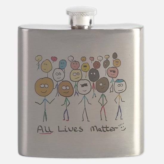 All Lives Matter 2 Flask