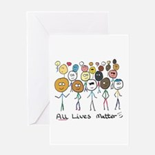 All Lives Matter 2 Greeting Cards