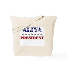 ALIYA for president Tote Bag
