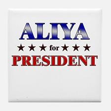 ALIYA for president Tile Coaster