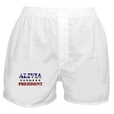 ALIVIA for president Boxer Shorts