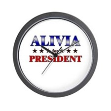 ALIVIA for president Wall Clock