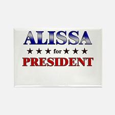 ALISSA for president Rectangle Magnet