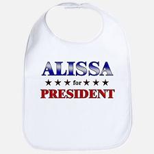 ALISSA for president Bib