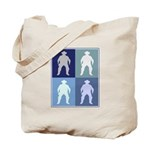 Cowboy (blue boxes) Tote Bag
