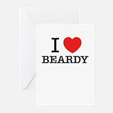 I Love BEARDY Greeting Cards