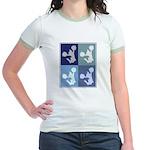 Cheerleading (blue boxes) Jr. Ringer T-Shirt